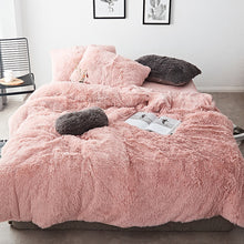 Load image into Gallery viewer, Fluffy Velvet Fleece Quilt Cover Bed Set (4/6/7 pcs) - Rose Gold
