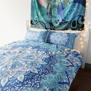 Dreaming in Blue Mandala Bed Set