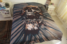 Load image into Gallery viewer, 3D Black Skull Bedding Set
