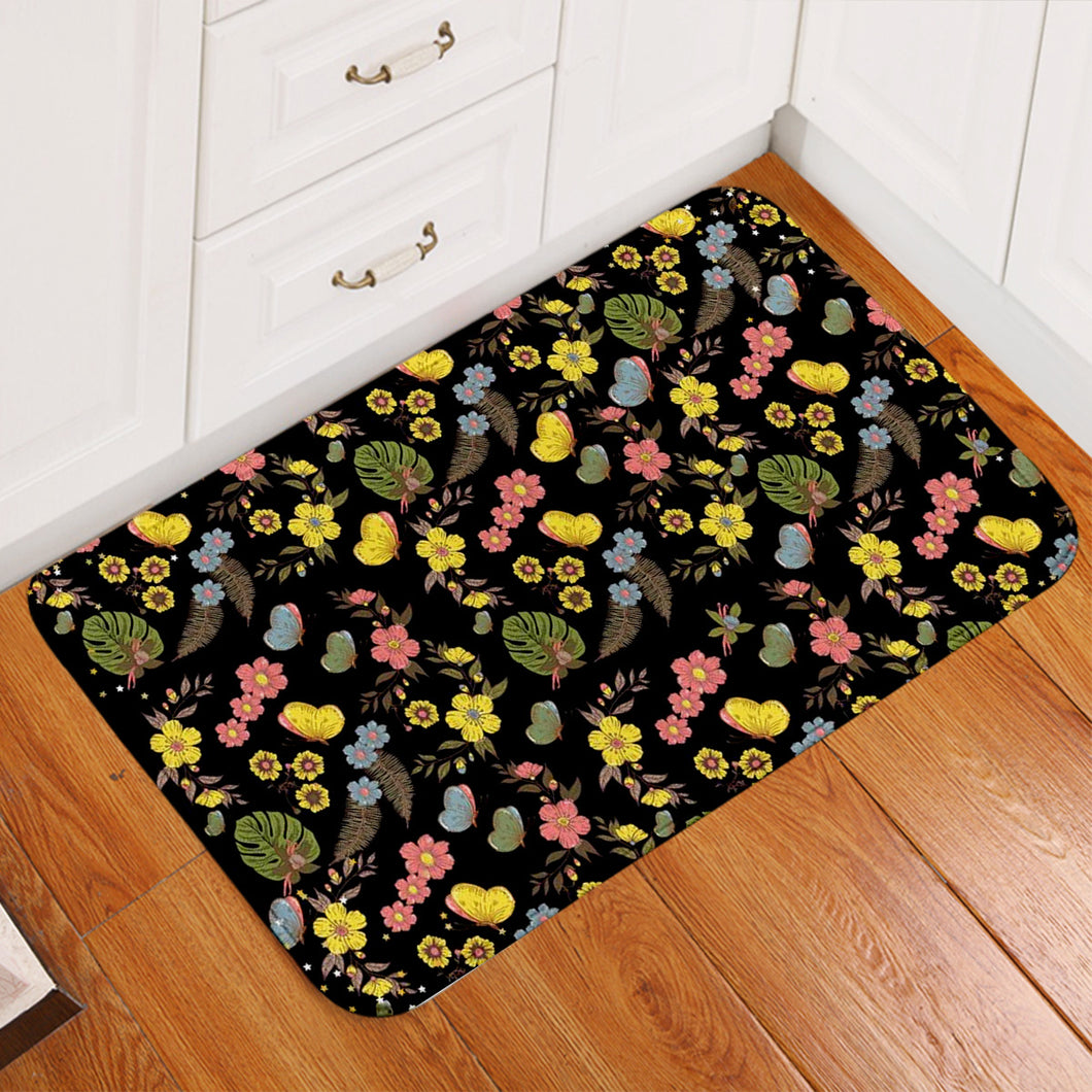 Night Garden Floor Mat