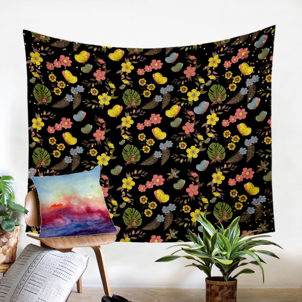 Night Garden Wall Tapestry