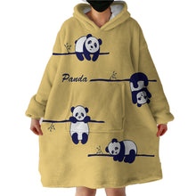 Load image into Gallery viewer, Blanket Hoodie - Panda on Tree (Made to Order)