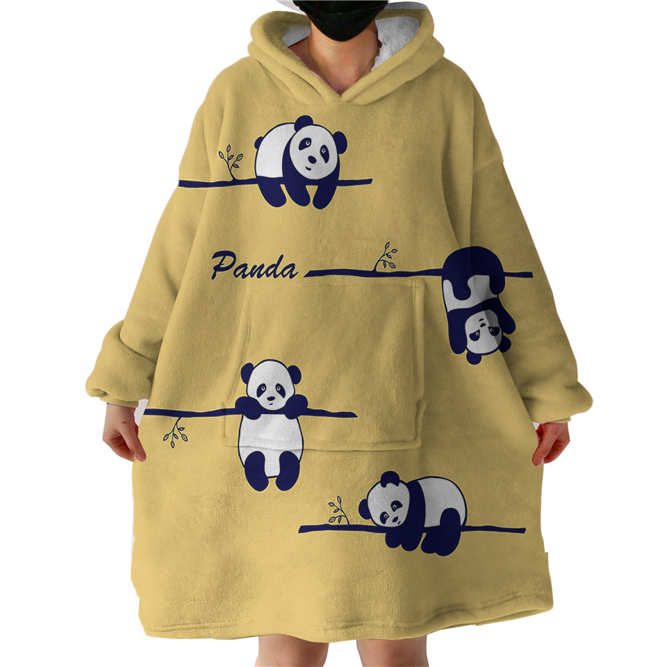 Blanket Hoodie - Panda on Tree (Made to Order)