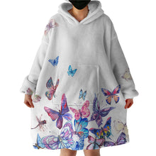 Load image into Gallery viewer, Hoodie Blanket - Butterfly Garden