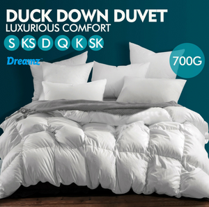 Doona Quilt 200/500/700 GSM Goose Down Feather - All Seasons