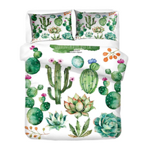 Load image into Gallery viewer, Tropical Cactus Duvet Cover Set