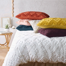 Load image into Gallery viewer, Vintage washed Tufted Quilt Cover Set Blush - EXPRESS POST