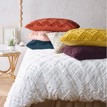 Load image into Gallery viewer, Vintage washed Tufted Quilt Cover Set Auburn - EXPRESS POST