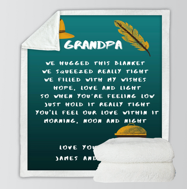 Customised Grandpa Throw Blanket
