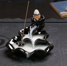 Load image into Gallery viewer, Lotus Shaped Backflow Incense Burner