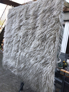Faux Fur long pile throw