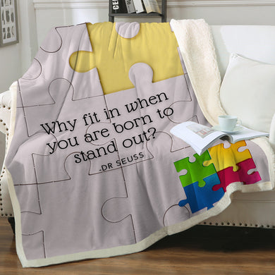 Customised Throw Blanket - Autism