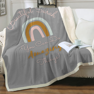 Customised Throw Blanket - You can do Amazing Things