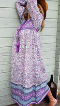 Load image into Gallery viewer, Violet Paisley Indian Dress