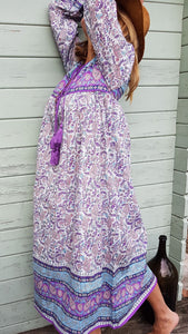 Violet Paisley Indian Dress