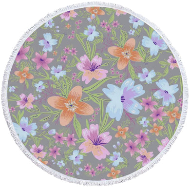 Jasmin Round Beach Towel