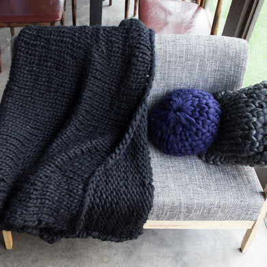 Hand Knitted Throw - 14 colours