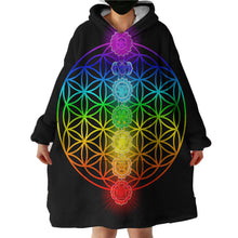 Load image into Gallery viewer, Hoodie Blanket - Chakras