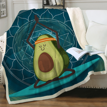 Load image into Gallery viewer, Customised Throw Blanket - Avocado