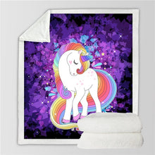 Load image into Gallery viewer, Unicorn Throw Blanket - 24 styles to choose