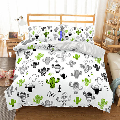 Fun Cactus Duvet Cover Set