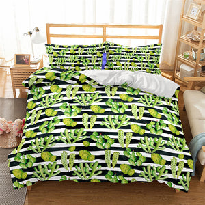 Cactus Night Duvet Cover Set