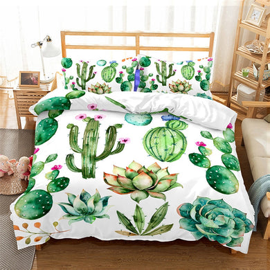 Tropical Cactus Duvet Cover Set