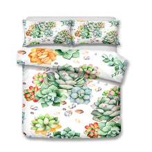 Load image into Gallery viewer, Succulents Duvet Cover Set