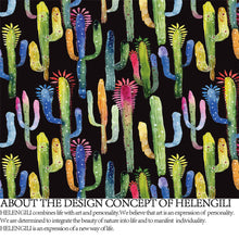 Load image into Gallery viewer, Colourful Cactus Duvet Cover Set