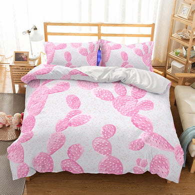 Pink Cactus  Duvet Cover Set