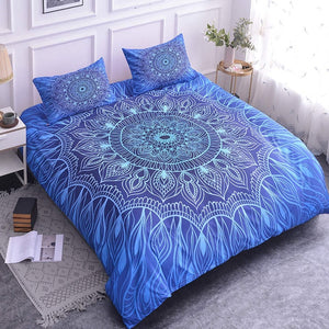 Luxury Mandala Bedding Set - Sky High