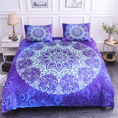 Luxury Mandala Bedding Set - Purple Rain