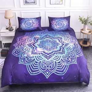 Luxury Mandala Bedding Set - Purple Sun