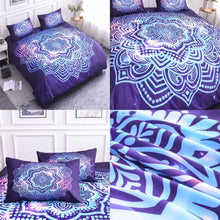 Load image into Gallery viewer, Luxury Mandala Bedding Set - Purple Sun