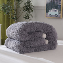 Load image into Gallery viewer, Fluffy Quilt Comforter - Grey