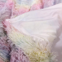 Load image into Gallery viewer, Rainbow Fluffy Blanket set with pillowcases