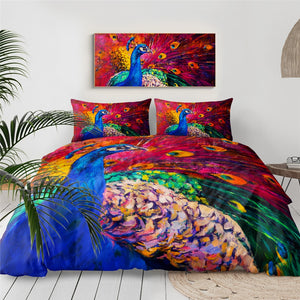 Customised Peacock Quilt Cover Set
