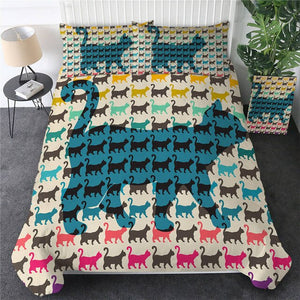 Customised Black Cats Quilt Cover Set - Various Styles