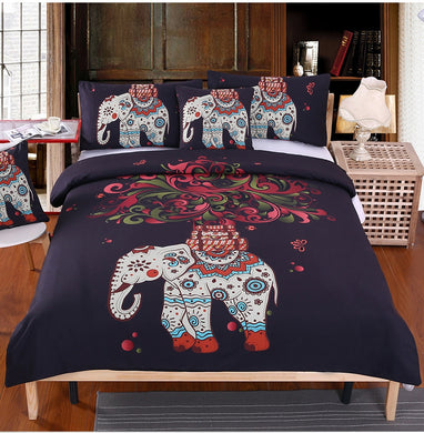Bohemian Elephant Bed Set
