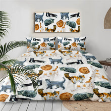 Load image into Gallery viewer, Customised Black Cats Quilt Cover Set - Various Styles