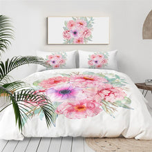 Load image into Gallery viewer, Customised Flowers Quilt Cover Set - Various Styles