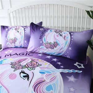 Customised Unicorn Kids Bedding Set