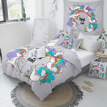 Load image into Gallery viewer, Customised Rainbow Unicorn Quilt Cover Set