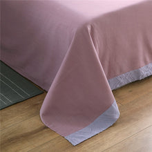 Load image into Gallery viewer, Luxury 100% Cotton Clipping Diamond 4pcs Bedding Set - Violet Pink