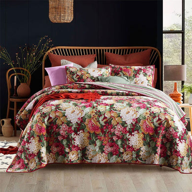 Cotton Bedspread Set 3pcs Flowers