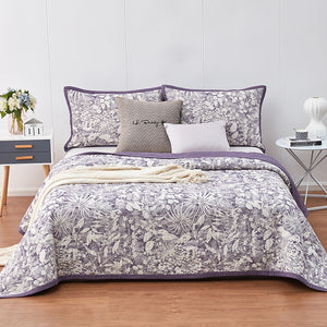 Jacquard Cotton Bedspread 3pcs Sand Washing