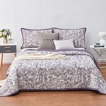Load image into Gallery viewer, Jacquard Cotton Bedspread 3pcs Sand Washing
