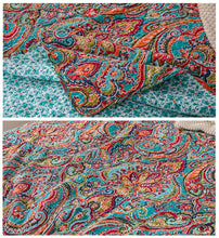 Load image into Gallery viewer, CHAUSUB BedSpreads For Bed Cotton Quilt Set 3PCS Bohemia Print Quilts Quilted Bed Cover King Queen Size Coverlet Summer Blanket