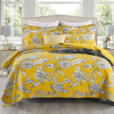 Cotton Bedspread Set 3pcs Iris