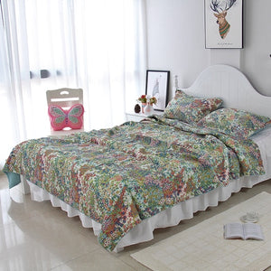 Bedspread Set 3pcs Paisley Leaves